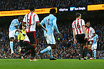 Yaya Toure of Manchester City scores his sides second goal - Manchester City vs Sunderland - Barclays Premier League - Etihad Stadium - Manchester - 26/12/2015 Pic Philip Oldham/SportImage