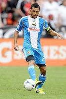 Philadelphia Union defender Carlos Valdes (2) D.C. United tied The Philadelphia Union 1-1 at RFK Stadium, Saturday August 19, 2012.