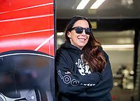 Feb 9, 2020; Pomona, CA, USA; NHRA funny car driver Alexis DeJoria during the Winternationals at Auto Club Raceway at Pomona. Mandatory Credit: Mark J. Rebilas-USA TODAY Sports