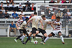 HOUSTON, TX - DECEMBER 11:  Ian Harkes (16) of Wake Forest University and Brian Nana-Sinkam (8) of Stanford University compete for the ball during the Division I Men's Soccer Championship held at the BBVA Compass Stadium on December 11, 2016 in Houston, Texas.  Stanford defeated Wake Forest 1-0 in a penalty shootout for the national title. (Photo by Justin Tafoya/NCAA Photos via Getty Images)