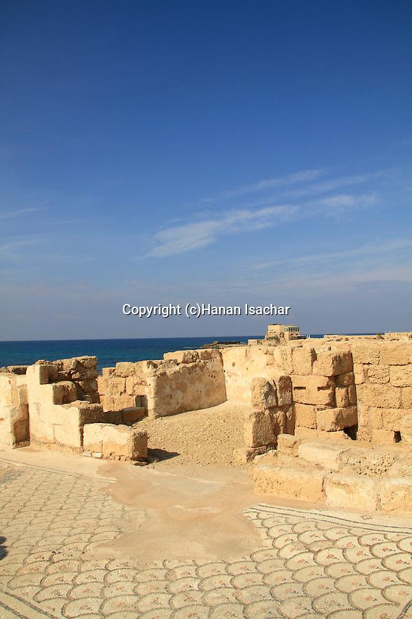 Israel, Sharon region, remains af a Byzantine Church in Caesarea