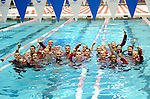 26 MAR 2011:  The Denison swim team celebrates winning the mens team national championship during the Division III Men's and Women's Swimming and Diving Championship held at Allan Jones Aquatic Center in Knoxville, TN.  David Weinhold/NCAA Photos