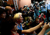 "L'attore statunitense Richard Gere posa con i fotografi durante il photocall per la presentazione del film ""Time Out of Mind"" al Festival Internazionale del Film di Roma, 19 ottobre 2014.<br /> U.S.actor Richard Gere poses with photographers during a photocall to present the movie ""Time Out of Mind"" during the international Rome Film Festival at Rome's Auditorium, 19 October 2014.<br /> UPDATE IMAGES PRESS/Isabella Bonotto"