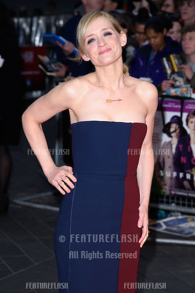 Anne Marie Duff at the BFI London Film Festival premiere of &quot;Suffragette&quot; at the Odeon Leicester Square, London.<br /> October 7, 2015  London, UK<br /> Picture: Steve Vas / Featureflash
