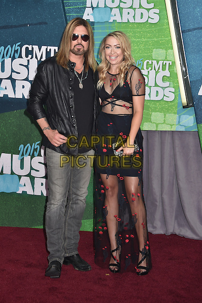 10 June 2015 - Nashville, Tennessee - Billy Ray Cyrus, Brandi Cyrus. 2015 CMT Music Awards held at Bridgestone Arena. <br /> CAP/ADM/LF<br /> &copy;Laura Farr/AdMedia/Capital Pictures