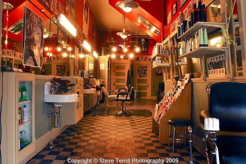 Old barber shop in Forest Grove Oregon