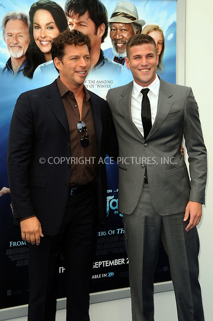 WWW.ACEPIXS.COM . . . . .  ....September 17 2011, LA....Actors Harry Connick Jr. and Austin Stowell arriving at the Premiere of 'Dolphin Tale' at The Village Theatre on September 17, 2011 in Westwood, California. ....Please byline: PETER WEST - ACE PICTURES.... *** ***..Ace Pictures, Inc:  ..Philip Vaughan (212) 243-8787 or (646) 679 0430..e-mail: info@acepixs.com..web: http://www.acepixs.com