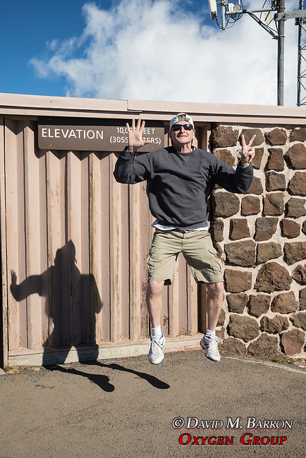 Adam Ames At Haleakala Jumping 2 feet!