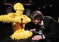 11/04/14 (NO FEE PICS) Work of US artist Nathan Sawaya at The Art of the Brick coming to The Ambassador Theatre.Exhibition featuring art created out of LEGO® bricks on show in Dublin running from 12th April 2014 for a limited period. Pic Stephen Collins/Collins Photos