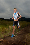 BOULDER, CO- JULY 8:  Professional Triathlete Clayton Fittell of Australia during poses for a portrait during a photo shoot for LAVA Magazine on July 8, 2012 in Boulder, Colorado. (Photo by Donald Miralle) *** Local Caption *** .