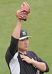 Masahiro Tanaka (Yankees),<br /> MARCH 7, 2015 - MLB : Masahiro Tanaka of the New York Yankees during a spring training baseball workout in Tampa, Florida, United States.<br /> (Photo by AFLO)