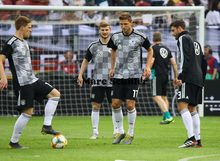 Marcel Halstenberg (Deutschland Germany), Timo Werner (Deutschland Germany), Niklas Stark (Deutschland Germany), Jonas Hector (Deutschland Germany) - 11.06.2019: Deutschland vs. Estland, OPEL Arena Mainz, EM-Qualifikation DISCLAIMER: DFB regulations prohibit any use of photographs as image sequences and/or quasi-video.