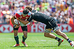 New Zealand vs Portugal during the HSBC Sevens Wold Series match as part of the Cathay Pacific / HSBC Hong Kong Sevens at the Hong Kong Stadium on 28 March 2015 in Hong Kong, China. Photo by Juan Manuel Serrano / Power Sport Images