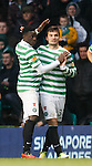 Tony Watt celebrates with Victor Wanyama