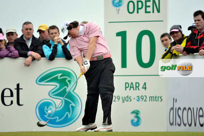 Rory McIlroy tees off on the 10th hole during Round 2 of the 3 Irish Open on 15th May 2009 (Photo by Eoin Clarke/GOLFFILE)