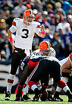 11 October 2009: Cleveland Browns' quarterback Derek Anderson calls out a play against the Buffalo Bills at Ralph Wilson Stadium in Orchard Park, New York. The Browns defeated the Bills 6-3 for Cleveland's first win of the season...Mandatory Photo Credit: Ed Wolfstein Photo
