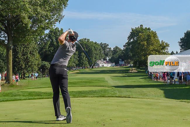 Kyle Stanley (USA) watches his tee shot on 17 during 3rd round of the World Golf Championships - Bridgestone Invitational, at the Firestone Country Club, Akron, Ohio. 8/4/2018.<br /> Picture: Golffile | Ken Murray<br /> <br /> <br /> All photo usage must carry mandatory copyright credit (© Golffile | Ken Murray)