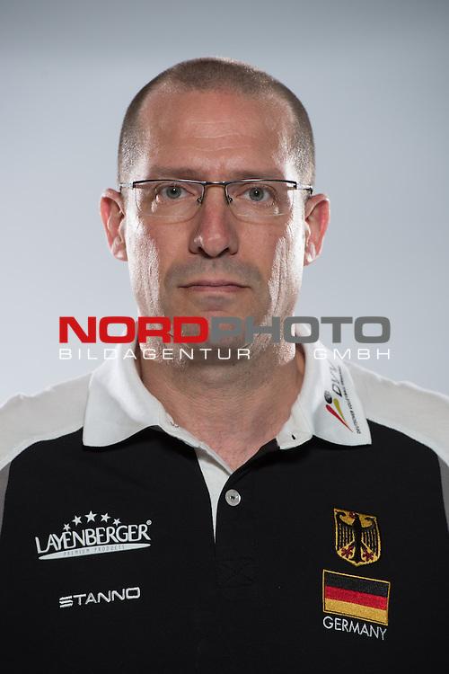 24.05.2015, Sportzentrum Westenfeld, Bochum<br /> Volleyball, Fotoshooting Nationalmannschaft MŠnner / Maenner<br /> <br /> Roberto Piazza (Co-Trainer GER)<br /> <br />   Foto &copy; nordphoto / Kurth