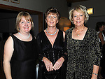 Patricia Holohan, Breda Moore and Maureen Cullen pictured at the captains dinner in Seapoint golf club. Photo: Colin Bell/pressphotos.ie