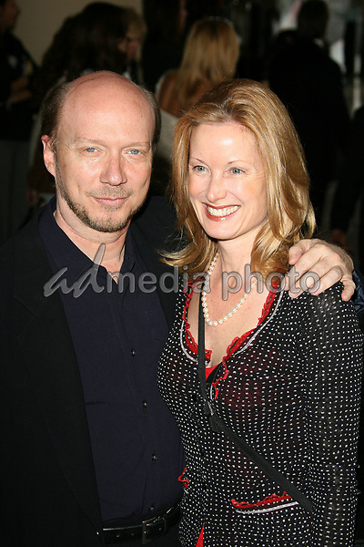 13 February 2006 - Beverly Hills, California - Paul Haggis and Deborah Rennard. 78th Annual Academy Award Nominees' Luncheon - Arrivals held at the Beverly Hilton Hotel.  Photo Credit: Zach Lipp/AdMedia