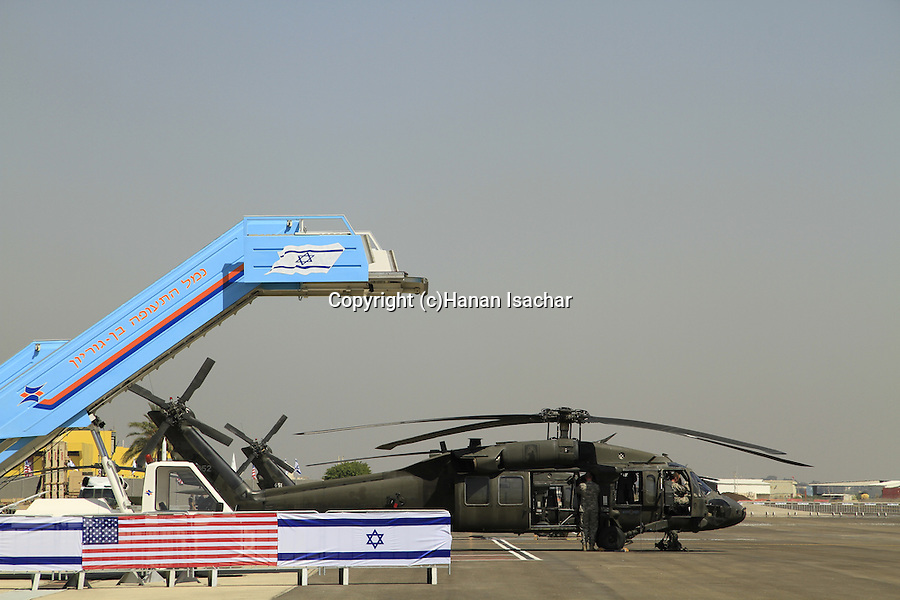Final preparations at Ben Gurion Airport to US President Obama