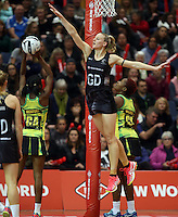 11.09.2016 Silver Ferns Katrina Grant in action during the Taini Jamison netball match between the Silver Ferns and Jamaica played at Trafalgar Centre in Nelson. Mandatory Photo Credit ©Michael Bradley.