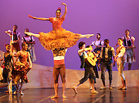 CALI - COLOMBIA- 05-06-2013: Presentacion del Grupo Magdeburg Ballet de Alemania en el teatro Municipal de Cali en el séptimo  Festival Internacional de Ballet, Incolballet,  junio 5 de 2013 La compañía  Magdeburg Ballet se crea en el  2006/2007 bajo la dirección artística  del bailarín  y coreógrafo Cubano Gonzalo Galguera. La agrupación tiene su sede permanente en el teatro Magdeburg , capital del estado federado de Sajonia -Anhalt y esta conformado por un elenco internacional de bailarinas y bailarines de nacionalidades diferentes , cuenta con un alto repertorio de tendencia neoclasista  y contemporánea e internacional en los más diversos estilos y expresiones dancísticas de la actualidad. Organiza generalmente temporadas a lo largo del año, ha participado como invitada  en festivales internacionales como Cuba, Colombia Bosnia entre otros. (Foto: VizzorImage / Juan C. Quintero / Str.).  Presentation of the Ballet Group Magdeburg of Germany. At the Municipal theater in Cali in the seventh International Ballet Festival, Incolballet, June 5, 2013 The company Magdeburg Ballet is created in the 2006/2007 under the artistic direction of Gonzalo Galguera Cuban dancer and choreographer. The pool has its seat at the theater Magdeburg, the capital of the federal state of Saxony-Anhalt and is comprised of an international cast of dancers and dancers of different nationalities has a high tendency repertoire of contemporary and international neoclasista in diverse dancísticas styles and expressions of today. Seasons usually organized along the year, has participated as invited in international festivals such as Cuba, Colombia Bosnia among others. (Photo: VizzorImage / John C. Quintero / Str). (Photo: VizzorImage / John C. Quintero / Str)