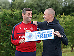 Pedro Caixinha and Kenny Miller promote Follow with Pride