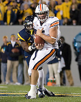 October 23, 2008: Auburn tight end Tommy Trott. The West Virginia Mountaineers defeated the Auburn Tigers 34-17 on October 23, 2008 at Mountaineer Field, Morgantown, West Virginia.