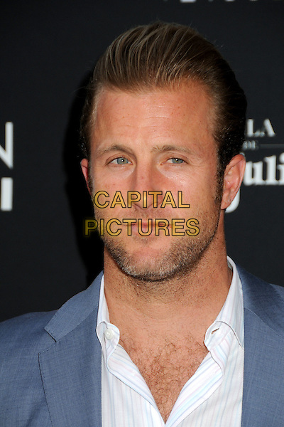 "SCOTT CAAN .""Mercy"" Los Angeles Premiere held at Grauman's Egyptian Theatre, Hollywood, California, USA, .3rd May 2010..portrait headshot beard facia hair  hairy chest blue grey gray white shirt .CAP/ADM/BP.©Byron Purvis/AdMedia/Capital Pictures."