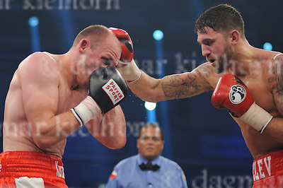 October 01-16,Jahnsportforum,Neubrandenburg, Mecklenburg-Vorpommern,Germany<br /> WBA World light heavyweight title<br /> Juergen Braehmer vs Nathan Cleverly<br /> Cleverly dethroned WBA light heavyweight champion Braehmer  with a seventh round TKO .The fight was stopped after six rounds due to an injury of Braehmer
