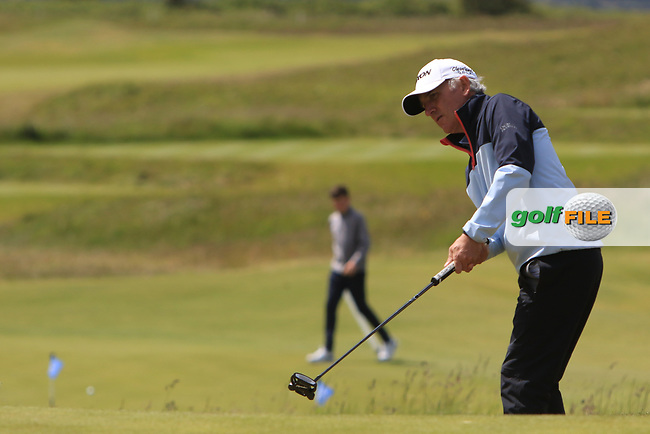 Euan McIntosh (Turnhouse) on the 4th during Round 1 of the The Amateur Championship 2019 at The Island Golf Club, Co. Dublin on Monday 17th June 2019.<br /> Picture:  Thos Caffrey / Golffile<br /> <br /> All photo usage must carry mandatory copyright credit (© Golffile | Thos Caffrey)