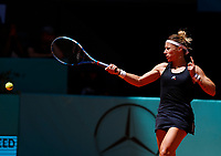 Pauline Parmentier of France in action against Elina Svitolina of Ukaine during day two of the Mutua Madrid Open at La Caja Magica on May 05, 2019 in Madrid, Spain. /NortePhoto.com