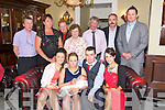 Parent Karen Fitzgerald, Bertie O'Sullivan, Tralee celebrate the Christening of Baby Nathan at St. Johns Church and after with family and friends at the Imperial Hotel on Sunday.  Pictured Chantelle O'Sullivan, Karen Fitzgerald, Bertie O'Sullivan, Baby O'Sullivan Rachel Quirke, Brendan Moriarty, Eileen Fitzgerald Moriarty, James Fitzgerald, Imelda O'Sullivan, Bertie O'Sullivan and John Fitzgerald