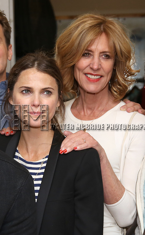 Keri Russell and Christine Lahti backstage at the Indigo Theatre Project's Benefit Reading of  'An America Daughter'  at The Tony Kiser Theater on May 8, 2017 in New York City.