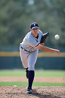 Detroit Tigers pitcher John Schreiber (48) delivers a pitch during a Florida Instructional League game against the Pittsburgh Pirates on October 2, 2018 at the Pirate City in Bradenton, Florida.  (Mike Janes/Four Seam Images)