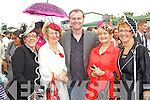 Pictured at Listowel Races, Ladies Day on Friday from left: Elaine Kearney (Castleisland), Rita McCarthy (Castleisland), Daithai O'Se, Breda Galway (Castleisland), Sheila Brosnan (Ballymac).