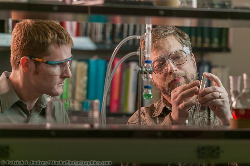Professor and student at the University of Alaska chemistry lab, Fairbanks, Alaska.