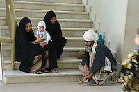 The main hospital in Herat City which serves the entire province. Relatives of patients in the burns unit wait outside.