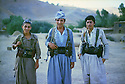 Iran 1983 .In the district of Sardasht, peshmergas of Fedayin Khalk.Iran 1983 .Des peshmergas des Fedayin du peuple dans la region de Sardasht.