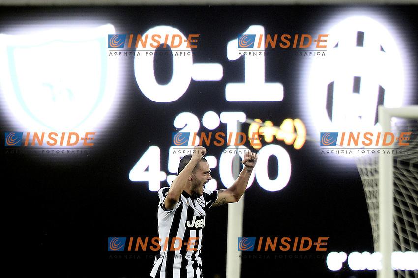 esultanza fine gara Leonardo Bonucci celebration<br /> Verona 30-08-2014, Stadio Bentegodi, Football Calcio 2014/2015 Serie A, Chievo - Juventus, Foto ImageSport/Insidefoto