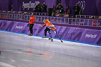 OLYMPIC GAMES: PYEONGCHANG: 15-02-2018, Gangneung Oval, Long Track, 10.000m Men, Jac Orie (coach), Sven Kramer (NED), ©photo Martin de Jong