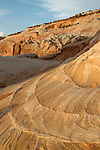 Petrified sand dunes in the navajo sandstone.<br /> Paria Plateau, AZ