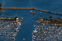 aerial photograph of Dana Point Harbor, Orange County, California