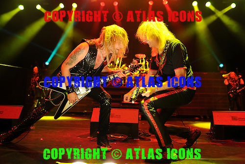 HOLLYWOOD FL - OCTOBER 30 : Richie Faulkner and Glenn Tipton of Judas Priest perform at Hard Rock Live held at the Seminole Hard Rock Hotel & Casino on October 30, 2014 in Hollywood, Florida. : Credit Larry Marano (C) 2014