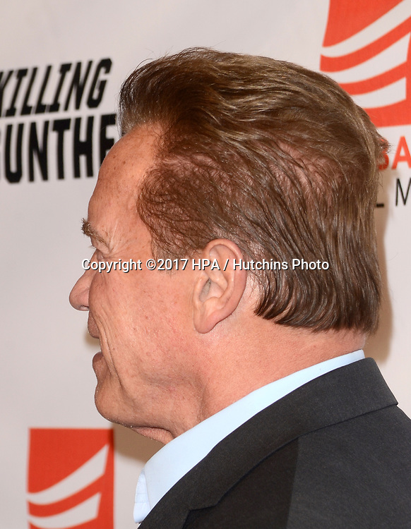 "LOS ANGELES - OCT 14:  Arnold Schwarzenegger at the ""Killing Gunther"" Los Angeles Special Screening at the TCL Chinese 6 Theaters on October 14, 2017 in Los Angeles, CA"