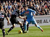 Jose Callejon  durante l'incontro di calcio di Serie A  Napoli Sampdoria allo  Stadio San Paolo  di Napoli , 6 gennaio 2014