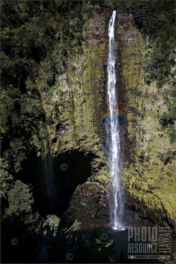A hint of rainbow with Akaka Falls on the Big Island