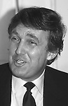 Donald Trump at a press conference to mark the launch of his Trump Shuttle airline on June 8, 1989 at the Plaza Hotel in New York City.
