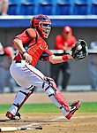 12 March 2012: Washington Nationals catcher Jesus Flores in action during a Spring Training game against the St. Louis Cardinals at Space Coast Stadium in Viera, Florida. The Nationals defeated the Cardinals 8-4 in Grapefruit League play. Mandatory Credit: Ed Wolfstein Photo